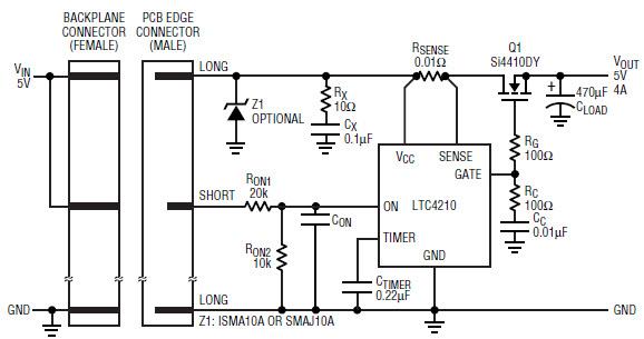 基于LTC4210-0903-mag热插拔控制器的参考设计