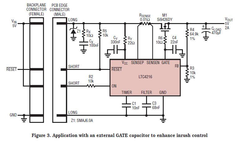 基于LTC4216-Huat热插拔控制器的参考设计