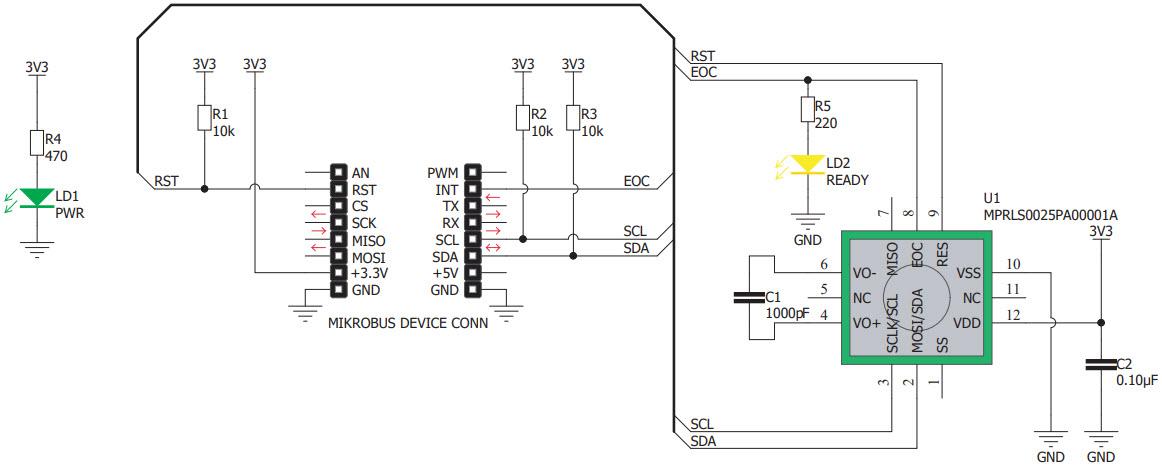 基于MIKROE-3338压力传感器的参考设计