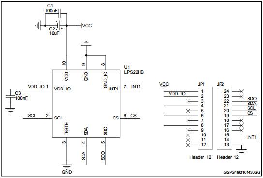 基于STEVAL-MET001V1压力传感器的参考设计