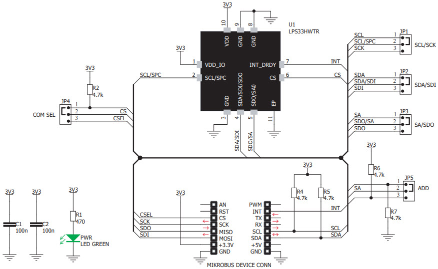 基于MIKROE-3411压力传感器的参考设计