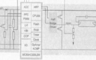 利用MC268H C908LB8 8位快闪微控制...