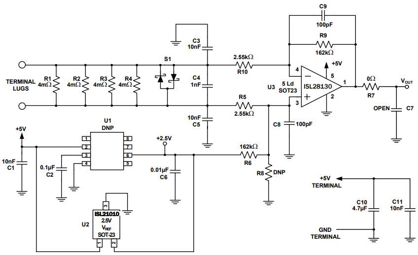 基于ISL28130ISENSEV1Z电流检测的参考设计