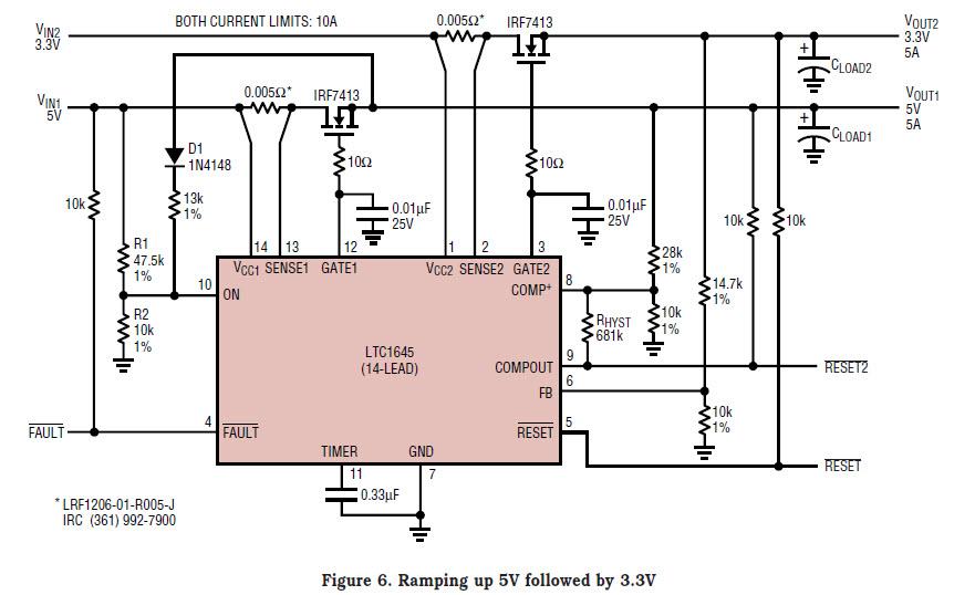 基于LTC1645-1199-mag热插拔控制器的参考设计1