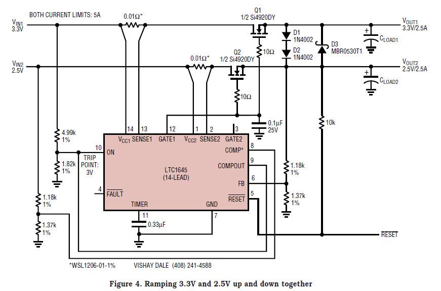基于LTC1645-1199-mag热插拔控制器的参考设计12