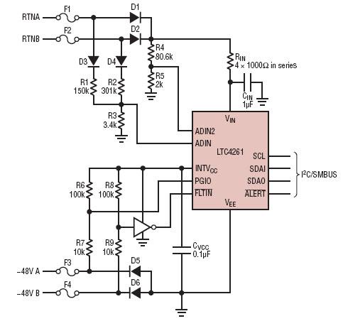 基于V16n01-04-LTC4261-Hou热插拔控制器的参考设计