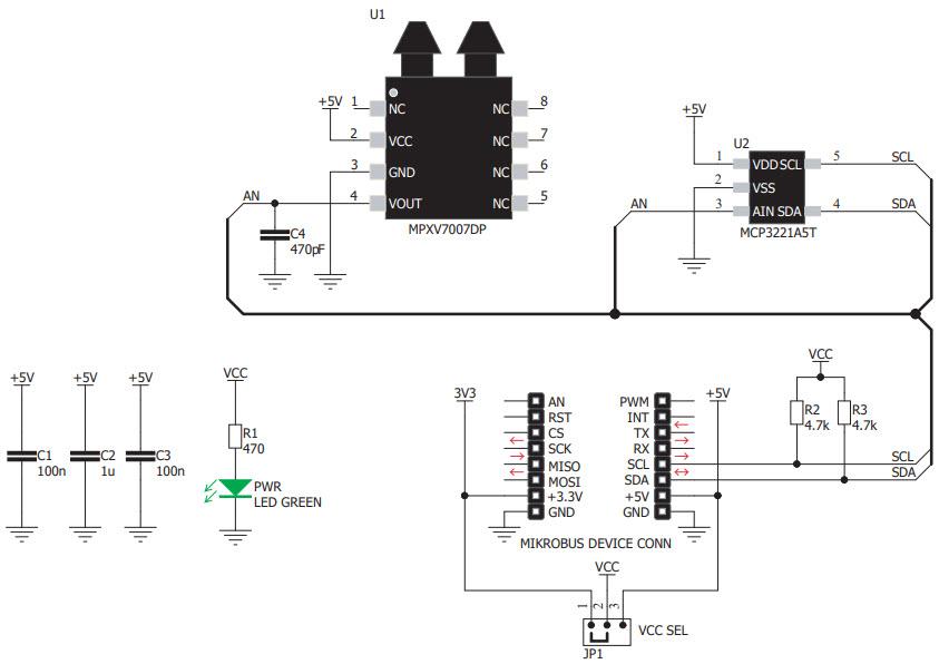基于MIKROE-3332压力传感器的参考设计