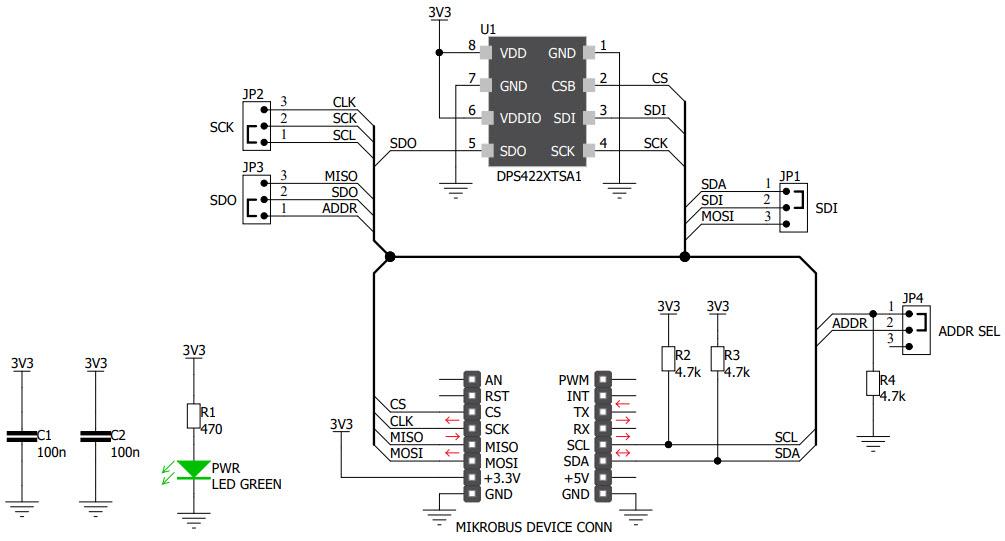 基于MIKROE-3441压力传感器的参考设计