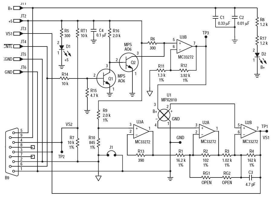 基于AN1654压力传感器的参考设计
