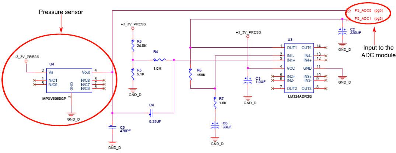 基于AN4025压力传感器的参考设计