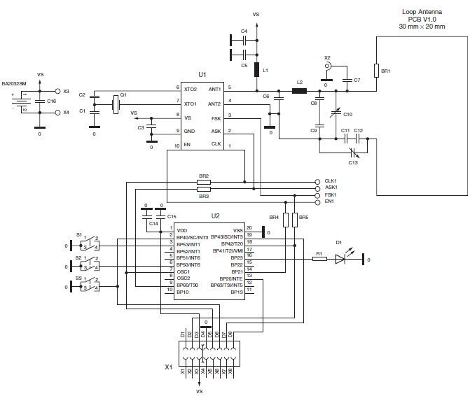 基于ATA5756發射器的參考設計