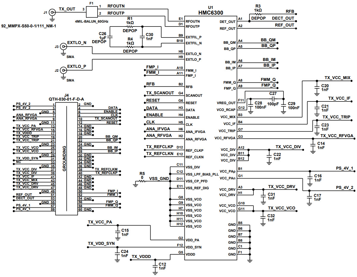 基于EV1HMC6300BG46發射器的參考設計
