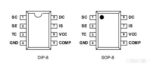 MC34063芯片特点/引脚以及封装/原理图