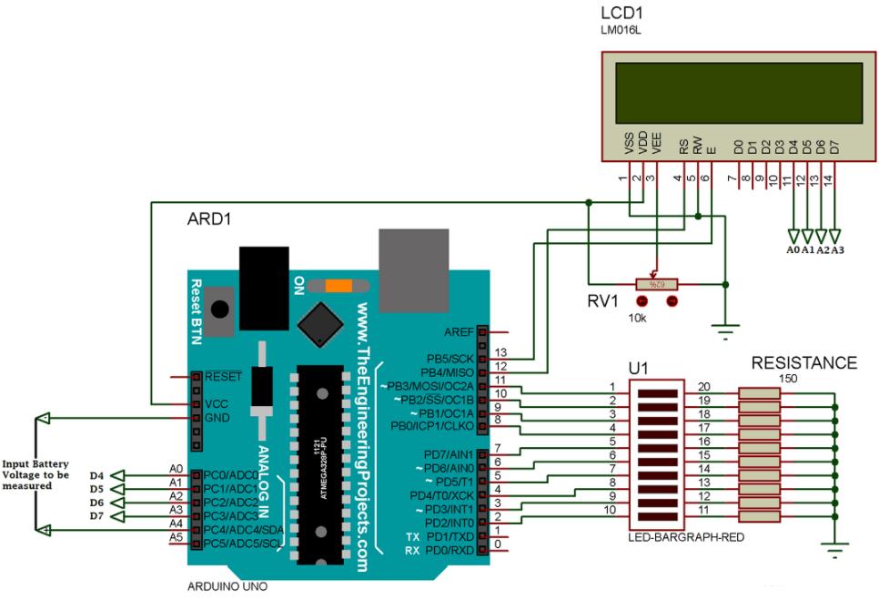 基于用Arduino開發板電池電壓監測方案