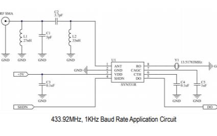 SYN531R超高频ASK接收机集成电路的数据手册免费下载