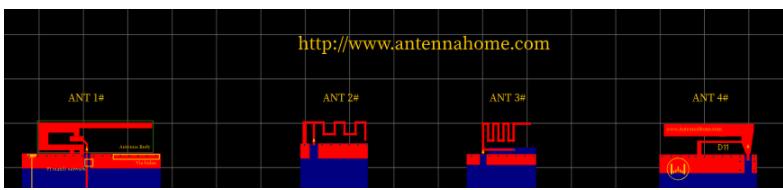 几款经典2.4G板载天线/TI板载天线  -附尺寸及pcb文件资料