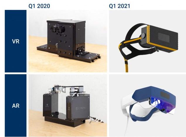 CREAL展示了首款AR/VR头显原型