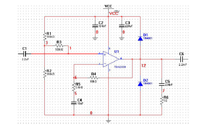 音频功率放大电路的课程设计报告说明