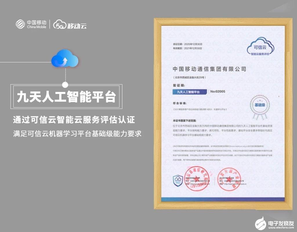 移动云获三项权威认证,将助力各行各业数字化进程