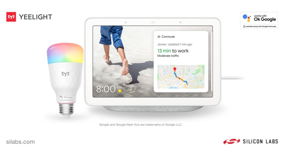 Silicon Labs携手Yeelight推出新型智能LED灯泡