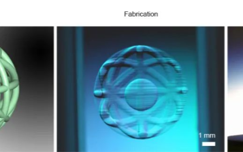 """Xolography"":使用两种光进行3D打印空心结构"