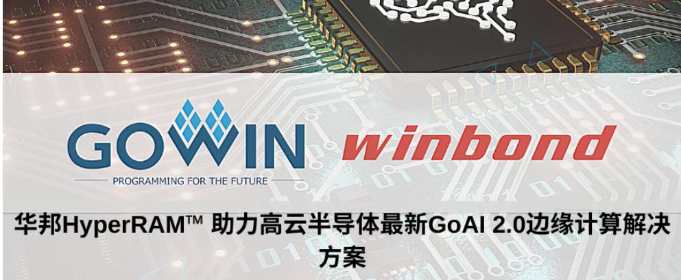 华邦HyperRAM? 助力高云半导体最新GoAI 2.0边缘计算解决方案