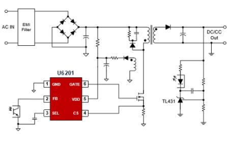 开关电源芯片的知识点简介和U6201芯片有什么样...