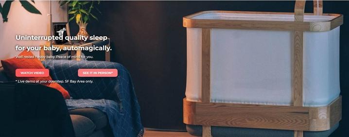 Cradlewise开发内置显示器的AI智能婴儿床