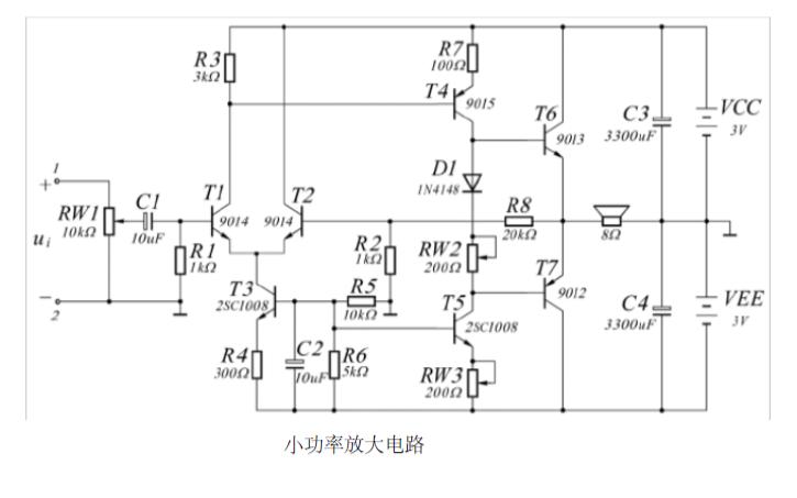 小功率放大电路的实验详细说明