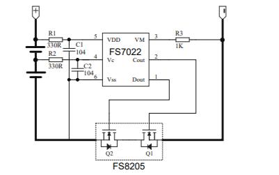 FS7022双节锂电池保护电路芯片的数据手册和解决方法