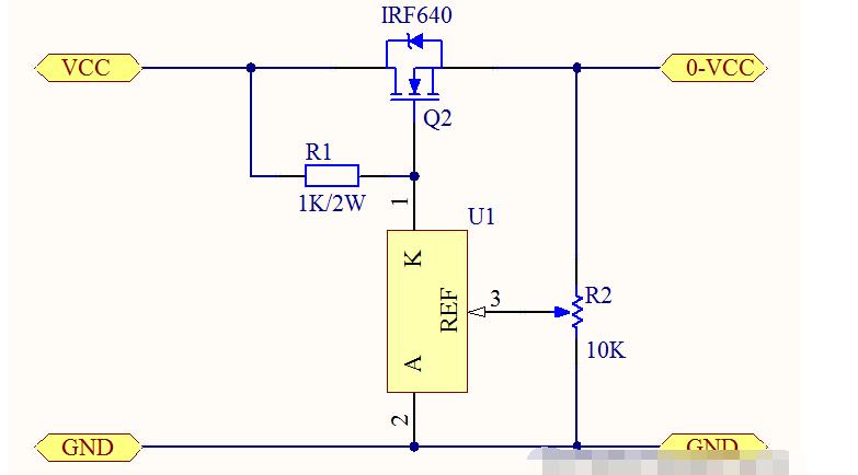大功率DCDC调压器的电路原理图