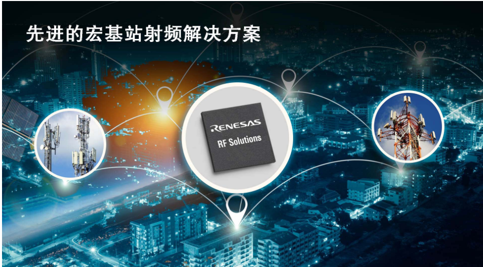 瑞薩電子擴展射頻產品組合,覆蓋宏基站完整信號鏈