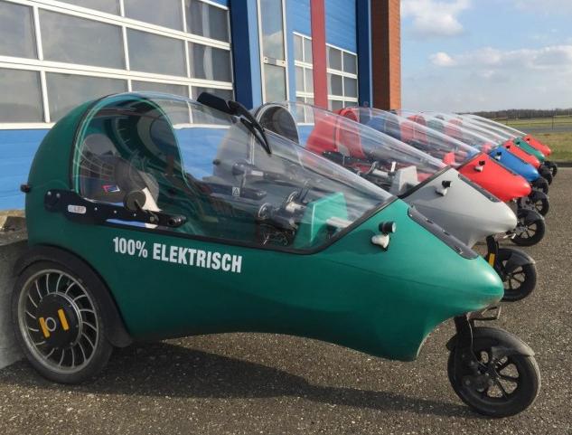 荷兰研发像电动自行车的电动汽车