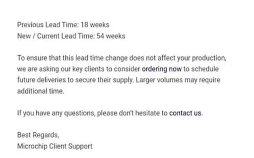 缺货潮持续,Microchip等一众厂商宣布交期延长