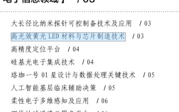 """南昌大学高光效黄光LED材料与芯片制造入选""""科创中国""""十大先导技术"""