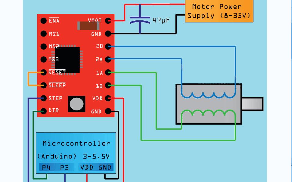 使用STM32F103C8T6和A4988驱动42步进电机的原理图和源代码免费下载