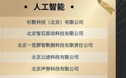 """触景无限入选中关村高企协榜单:人工智能行业""""潜力10强企业"""""""