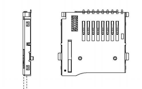 TF卡座外焊push自弹式MICRO SD卡座储存卡的规格原理图免费下载