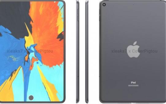 苹果iPad Mini6渲染图曝光:屏下Touch ID边框收窄