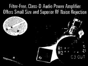 D类音频功率放大器TPA2005D1的性能特点及应用