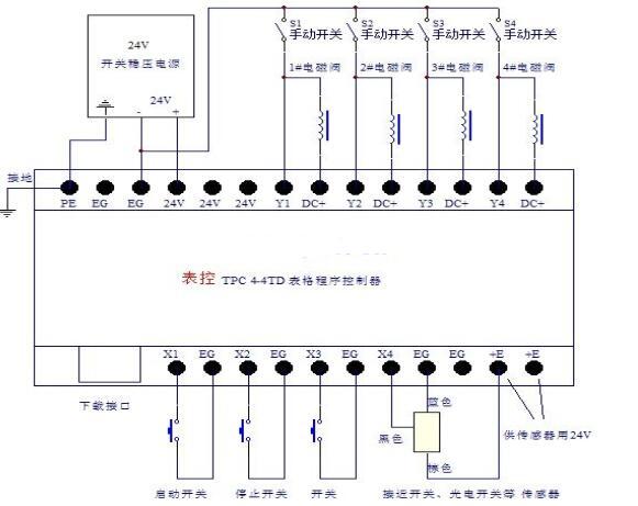 电磁阀控制气缸原理图