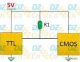 上拉电阻也可以提升高电平的电压阈值