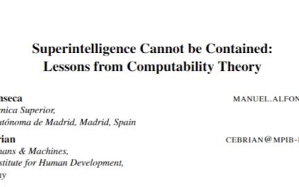 从理论上来看,人类不可能控制超级人工智能