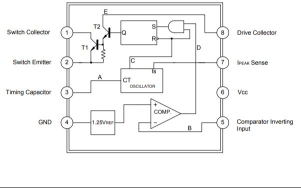 MC34063A线性集成电路芯片的数据手册免费下载