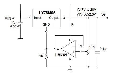 LY78M05三端正稳压器的数据手册免费下载