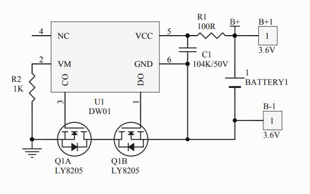 USB小风扇的IC电路原理图免费下载