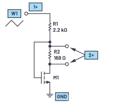 如何使用MOS晶体管研究NMOS零增益放大器原理