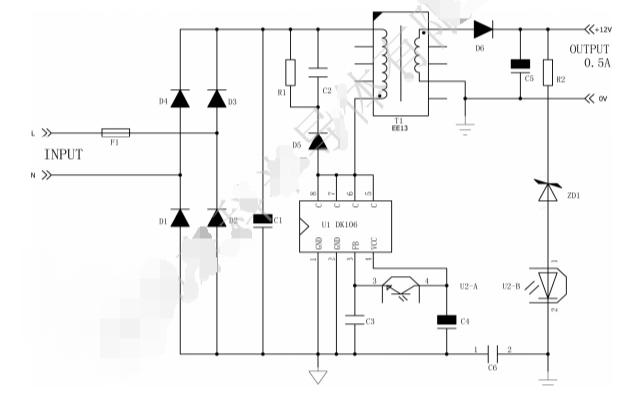DK106离线式开关电源控制芯片的数据手册的数据手册免费下载