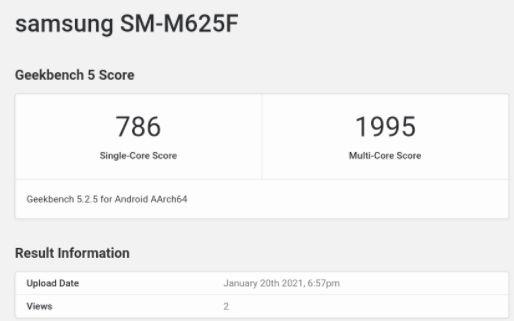 三星Galaxy Tab M62平板芯片与跑分曝光