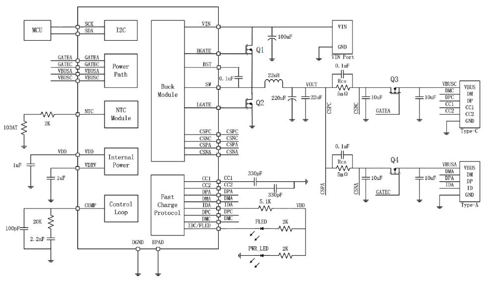 SW3518双口充电芯片的数据手册免费下载